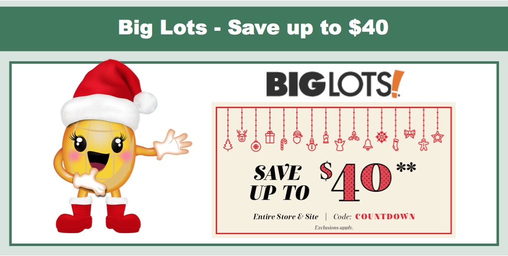 Big Lots Coupon Save Up To 40 On Your Purchase