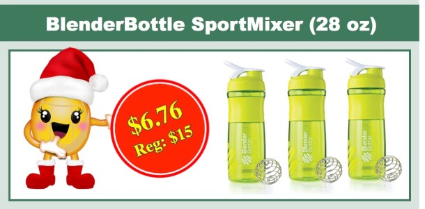 BlenderBottle SportMixer Tritan Grip Shaker Bottle