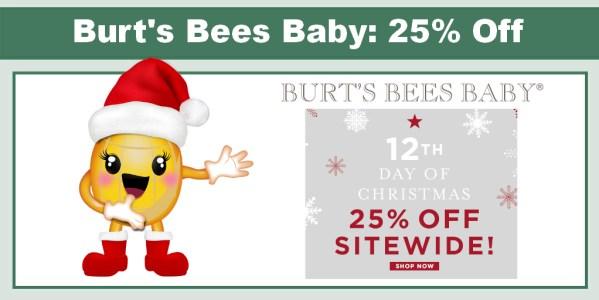 Burt's Bees Baby 25% Off Sitewide