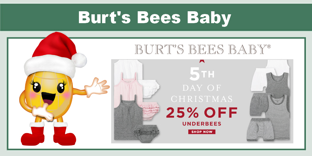 Burt's Bees Baby 25% Off Underbees
