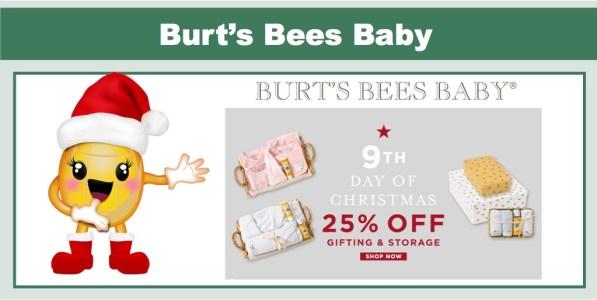 Burt's Bees Baby: 25% Off Gifting & Storage!
