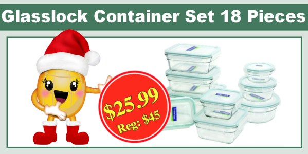 Glasslock Oven Safe Container Set (18 Pieces)