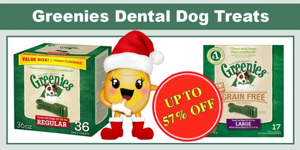 Up to 57% off on Greenies Dental Dog Treats