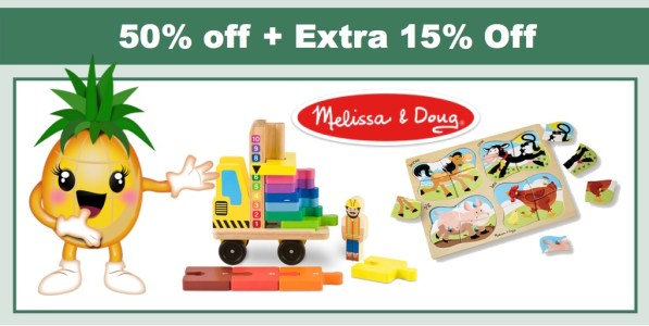 50% off at Melissa & Doug Outlet + Extra 15% Off!