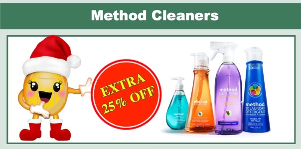 EXTRA 25% off Method Products