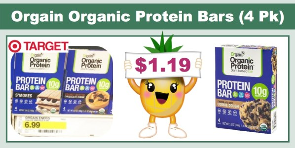 Orgain Organic Protein Bars (4 Pack)