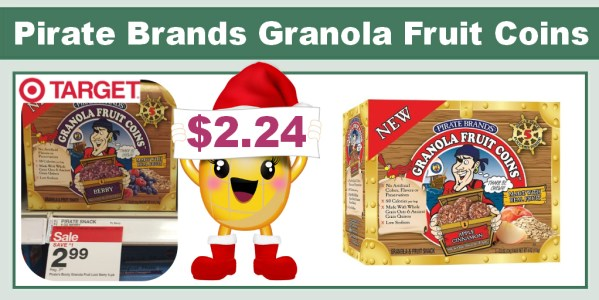 Pirate Brands Granola Fruit Coins Coupon Deal