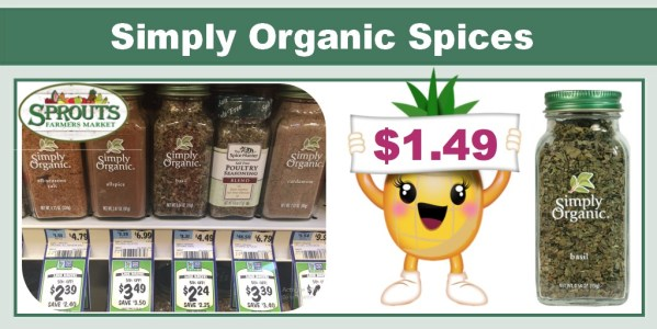 Simply Organic Spices Coupon Deal