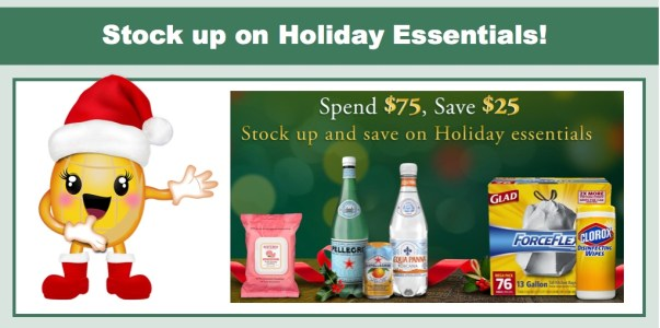 Amazon: $25 off $75+ in Holiday Essentials