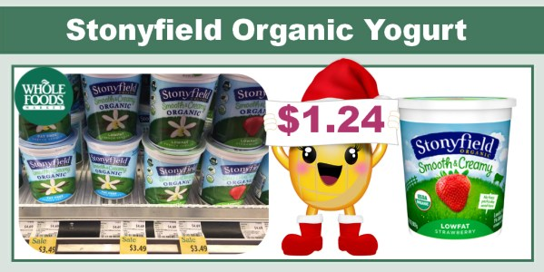 Stonyfield Organic Yogurt Coupon Deal