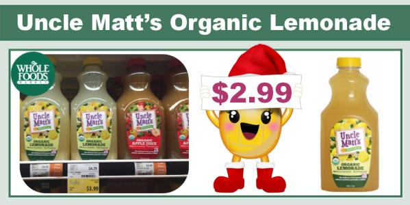Uncle Matt's Organic Lemonade Coupon Deal