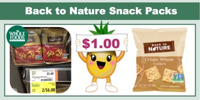 Back to Nature Snack Packs Coupon Deal