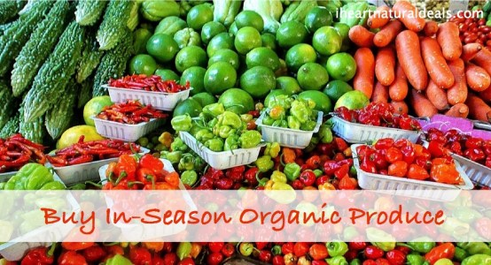 buy in season organic produce