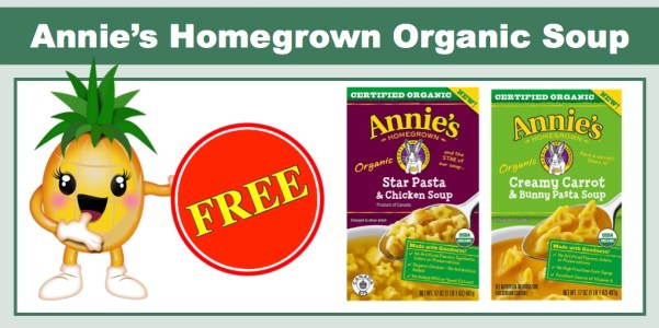 FREE Annie's Homegrown Organic Soup Coupon at Sprouts (up to $3.99 Value)!!