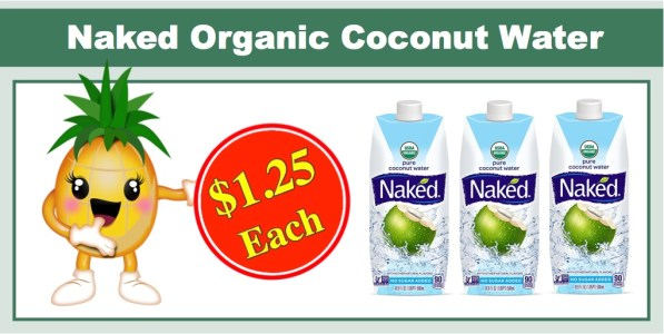 Naked Juice 100% Organic Coconut Water (12 Pack)