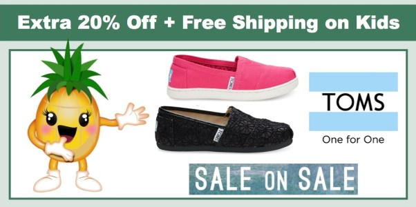 a10a9d3a9f49 Save BIG Toms Shoes – Extra 20% Off on Sale Prices + FREE Shipping on Kids  Shoes!