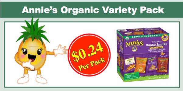 Annie's Organic Variety Snack Packs (36 Pack)