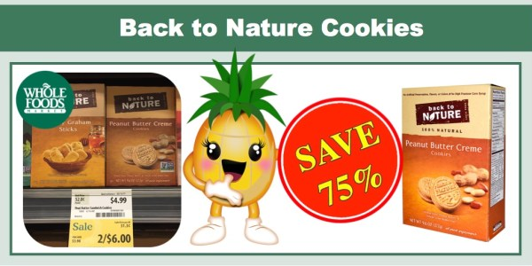 Back to Nature Cookies Coupon Deal