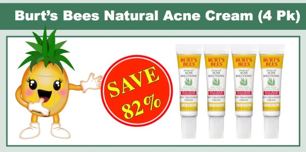 Burt's Bees Natural Acne Solutions Maximum Strength Spot Treatment Cream (4 Pack)