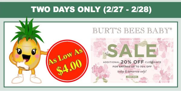 Burt's Bees Baby Clearance