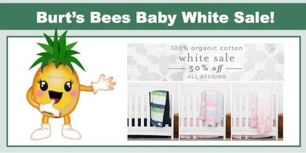 Burt's Bees Baby White Sale