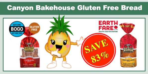 Canyon Bakehouse Gluten Free Bread - ONLY $1.00 at Earth Fare!