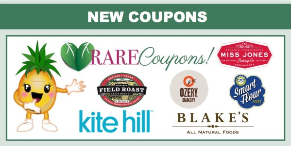 *RARE COUPONS* Print Now - Field Roast, Kite Hill, Blake's Natural Foods, Smart Flour and more!