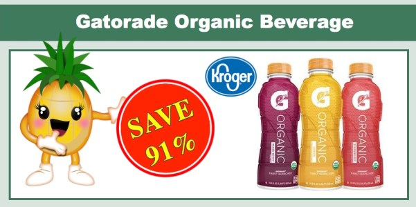 Gatorade G Organic Beverage Coupon Deal