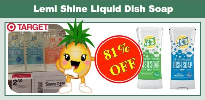 Lemi Shine Liquid Dish Soap Coupon Deal
