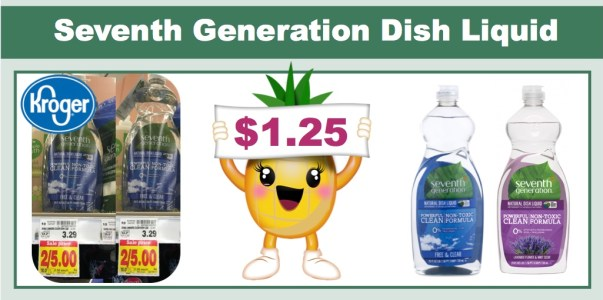 Seventh Generation Dish Liquid Coupon Deal