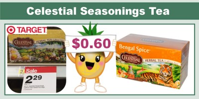 Celestial Seasonings Tea Coupon Deal