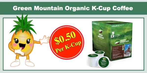 Green Mountain Organic Sumatran Reserve Fair Trade Coffee 24 K-Cup