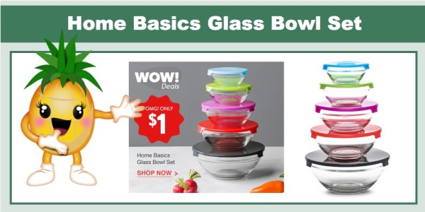 Home Basics Glass Bowl Set