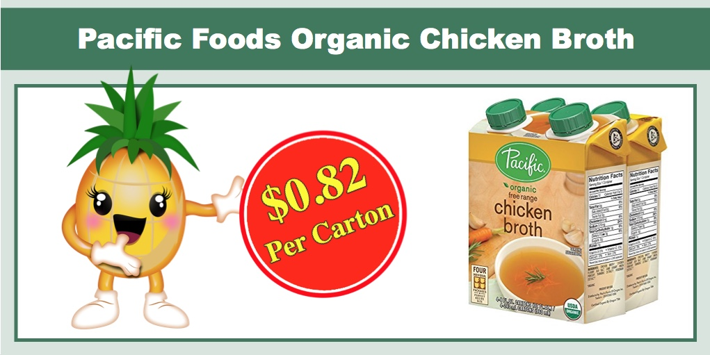 Pacific Foods Organic Free Range Chicken Broth 24 Pack Only 1960