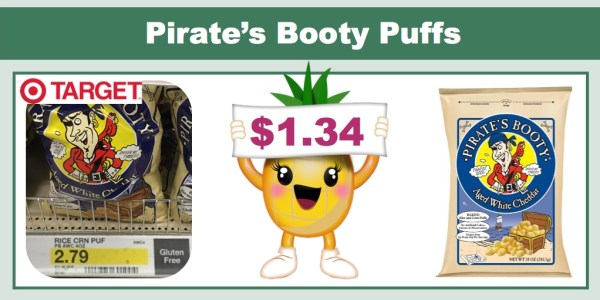 Pirate's Booty Cheese Puffs Coupon Deal