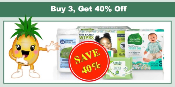 Seventh Generation Buy 3 Get 40% Off