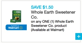 Whole Earth Sweetener Coupon