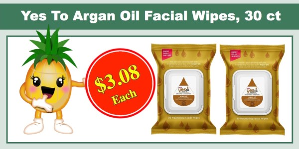 Yes To Miracle Argan Oil Facial Wipes
