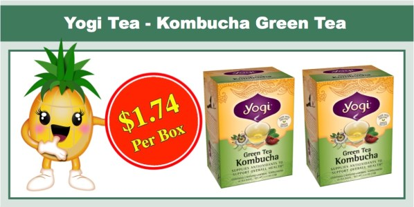 Yogi Teas Kombucha Green Tea 6 Pack