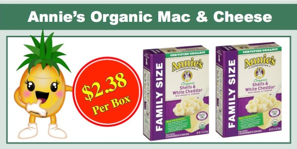 Annie's Organic Family Size Macaroni and Cheese