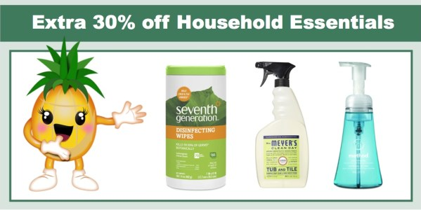 Amazon: Extra 30% off Household Essentials Including Method, Mrs. Meyer and Seventh Generation!