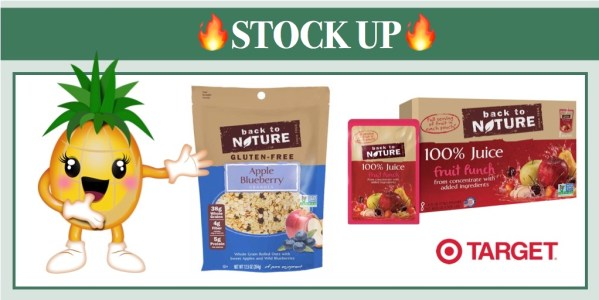 Back to Nature Granola or Juice Coupon Deal