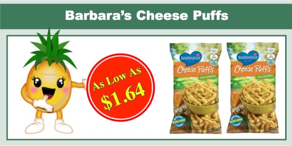 Barbara's Bakery Cheese Puffs Jalapeno 12 Pack