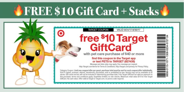 FREE $10 Target Gift Card wyb $40 in Pet Care + Coupons to Stack!