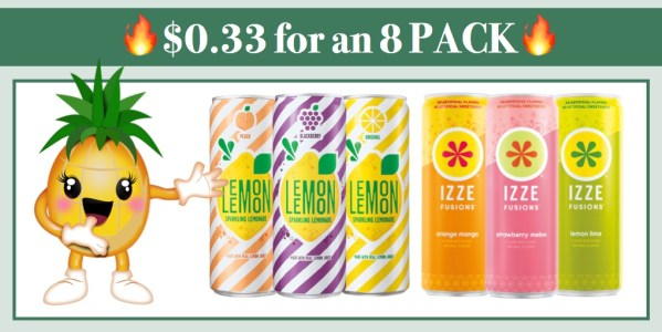 Lemon Lemon Sparkling Lemonade and Izze Fusions