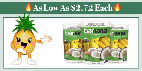Barnana Organic Chewy Coconut Banana Bites 3 Pack