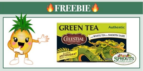 get 3 free celestial seasonings tea at sprouts