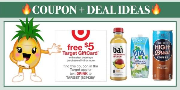 FREE $5 off $15 Beverage at Target