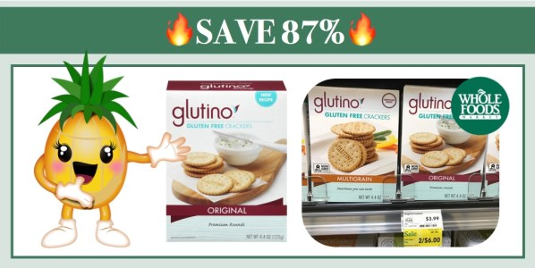 Glutino Gluten Free Crackers Coupon Deal