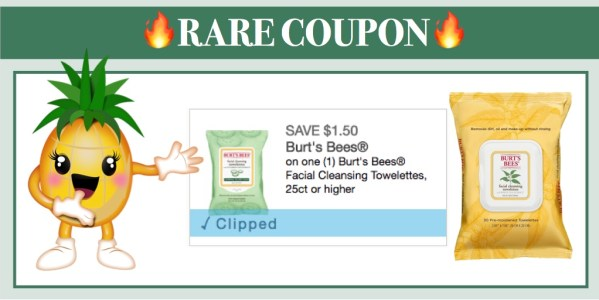 Burt's Bees Facial Cleansing Towelettes Coupon